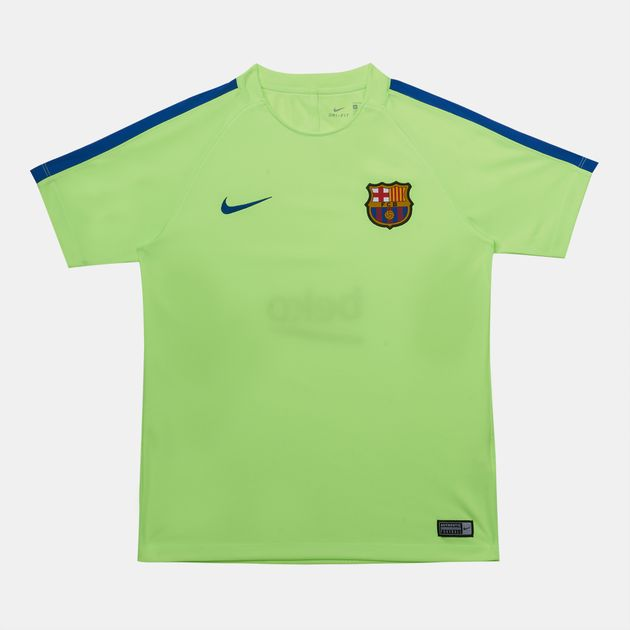 5c174f39a Shop Green Nike Kids  FC Barcelona Dry T-Shirt Squad for Kids by ...