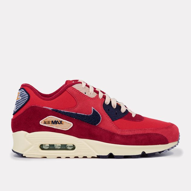 grossiste d977e 40b25 Shop Red Nike Air Max 90 Premium Special Edition Shoe ...