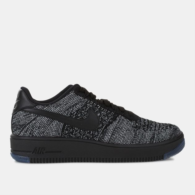 Neu Nike Sportswear Schwarz Air Force 1 Flyknit Low Sneaker