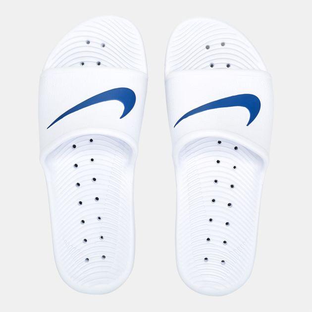 92c5adf5a10b Shop White Nike Kawa Shower Slides for Mens by Nike