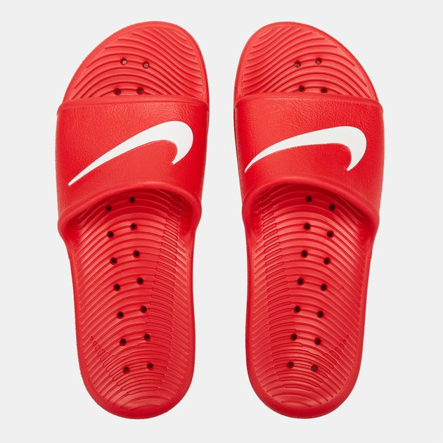Shop Red Nike Kawa Shower Slides for Mens by Nike  3cb227d0c7f