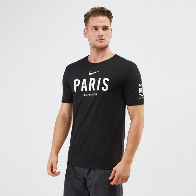 Shirt Club Dry T Paris Men's Shirts Tops Run Clothing Nike ngXO6qv6