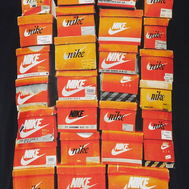 Shop Black Nike Sportswear Vintage Shoebox T Shirt for Mens