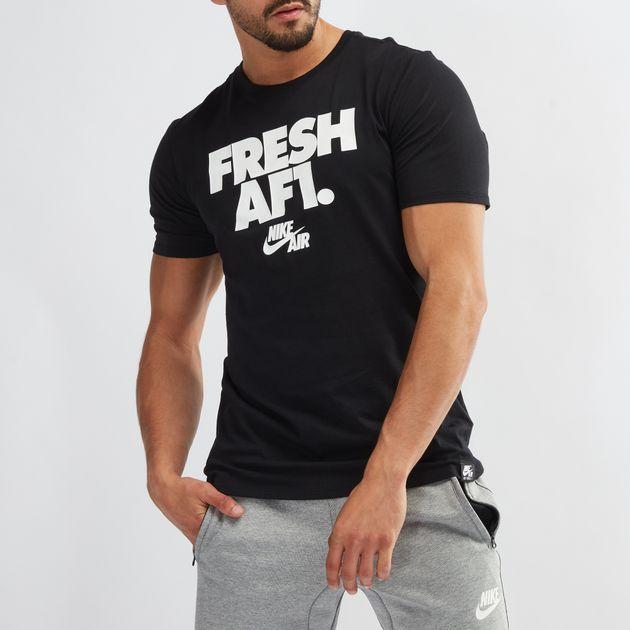 9cd9f73a Shop Black Nike Sportswear AF1 T-Shirt for Mens by Nike | SSS