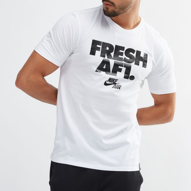 65d656dd Shop White Nike Sportswear AF1 T-Shirt for Mens by Nike | SSS