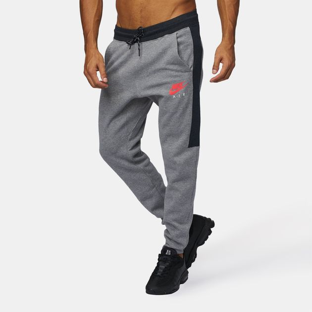 92d08bf352c354 Shop Grey Nike Sportswear Air Fleece Jogger Pants for Mens by Nike | SSS
