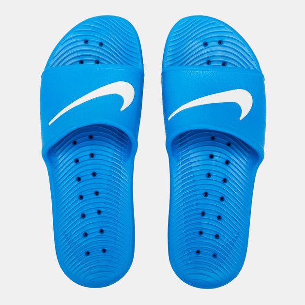 a2101337f Shop Blue Nike Kawa Shower Slides for Mens by Nike - 6 | SSS