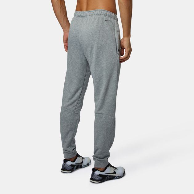 Shop Grey Nike Dri-FIT Fleece Tapered Pants for Mens by Nike  6525bb98ada9