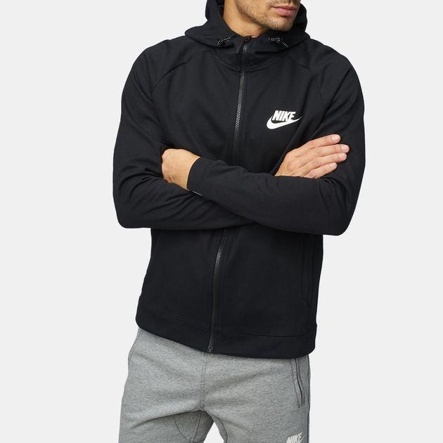 650642a4 Shop Black Nike Sportswear Advance 15 Hoodie for Mens by Nike - 2 | SSS