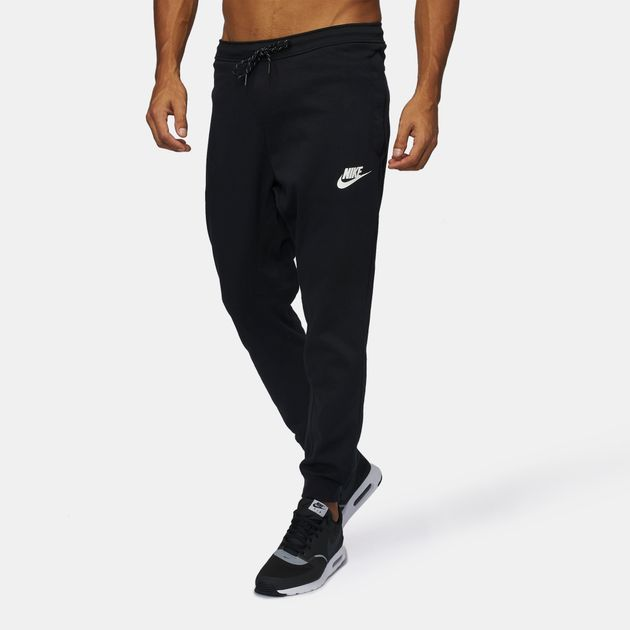Shop Black Nike Sportswear Advance 15 Fleece Jogger Pants for Mens ... f6e437077