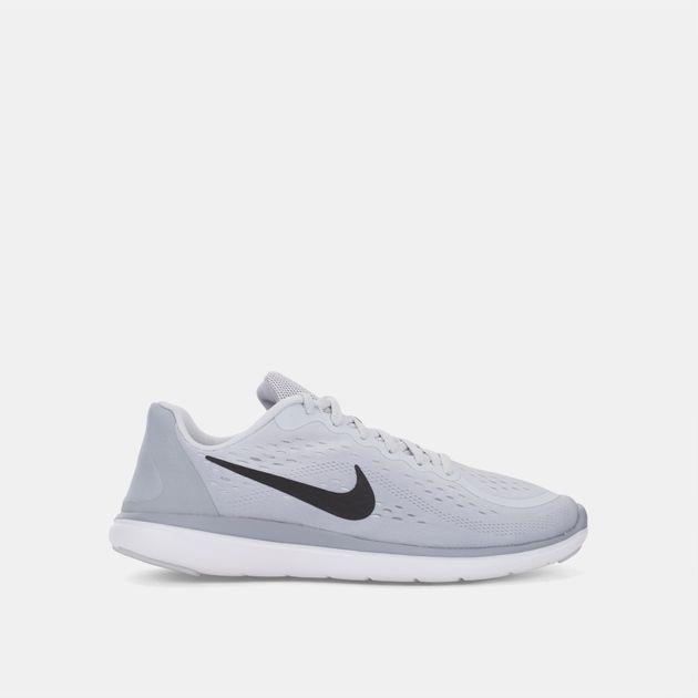 9b6f54b6a16c Shop Grey Nike Kids  Flex 2017 Running Shoe (Grade School) for Kids ...