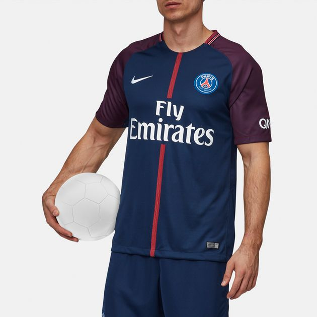 best service 66b9b 996cb Shop Blue Nike Paris Saint-Germain Vapor Home Jersey - 2017 ...