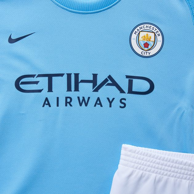 reputable site 41a28 84654 Shop Nike Kids Manchester City Fc Home Stadium Kit ...