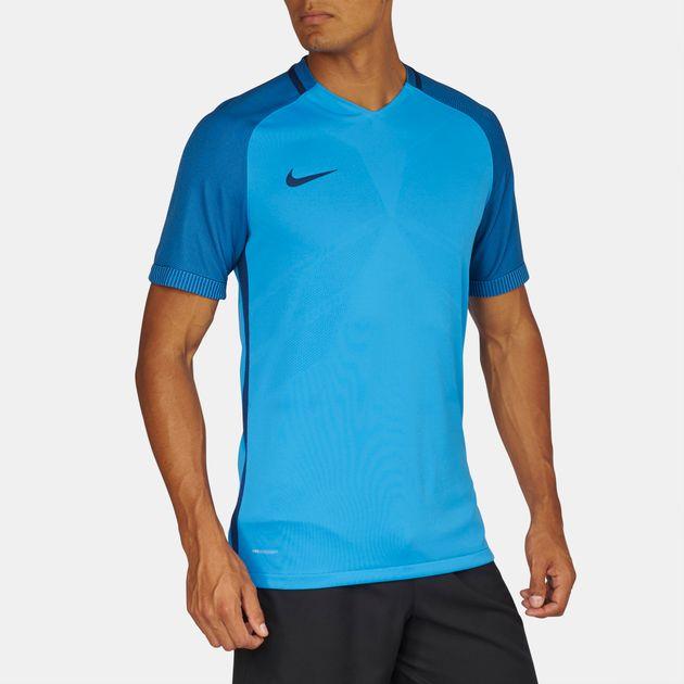 a4ef68cbec Shop Blue Nike Aeroswift Strike Short Sleeve T-Shirt for Mens by ...