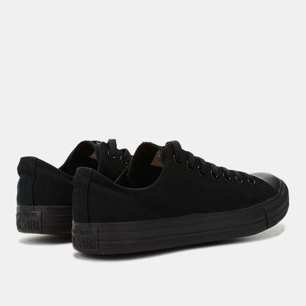 9d5d64343e5 Shop Black Converse Chuck Taylor All Star Monochrome Low-Top Shoe ...