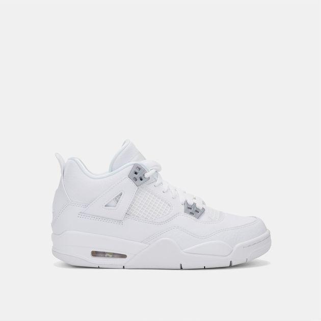 sports shoes 4bf25 8f9eb Shop White Nike Kids' Air Jordan 4 Retro Pure Money Shoe for ...