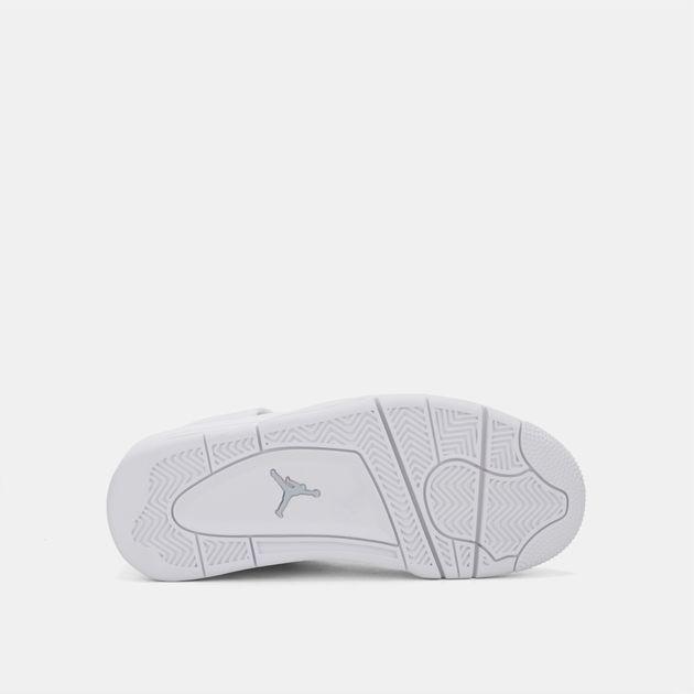 sports shoes 0275c cfb7f Shop White Nike Kids' Air Jordan 4 Retro Pure Money Shoe for ...