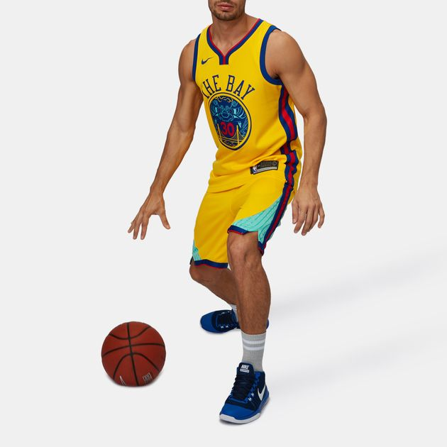 lowest price c1f00 6d331 Shop Yellow Nike NBA Golden State Warriors Stephen Curry ...