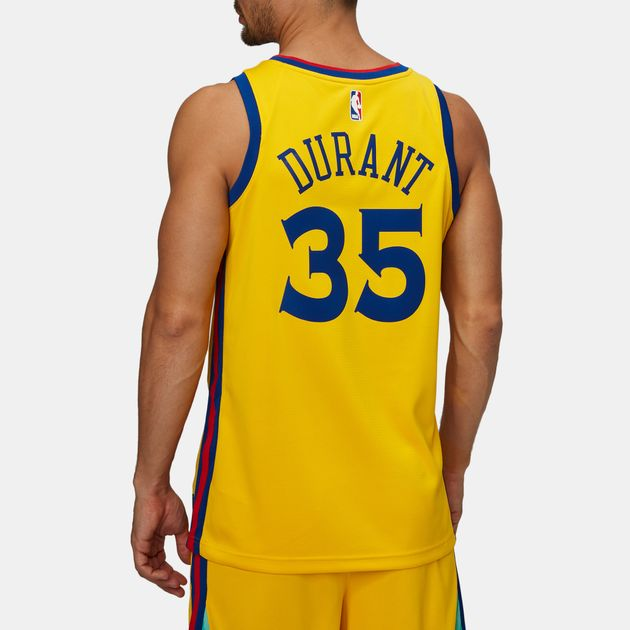 huge discount 4e532 1a70d Shop Yellow Nike NBA Golden State Warriors Kevin Durant ...