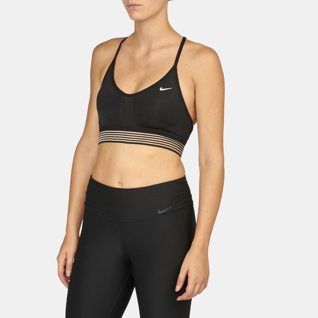 3341f491256ca Shop Black Nike Indy Cooling Light Support Sports Bra for Womens by ...