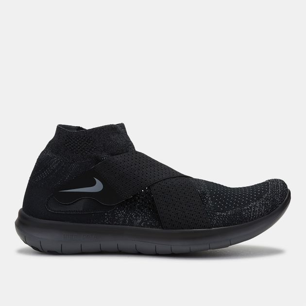 c89f704e7b413 Shop Black Nike Free RN Motion Flyknit 2017 Running Shoe for Mens by ...