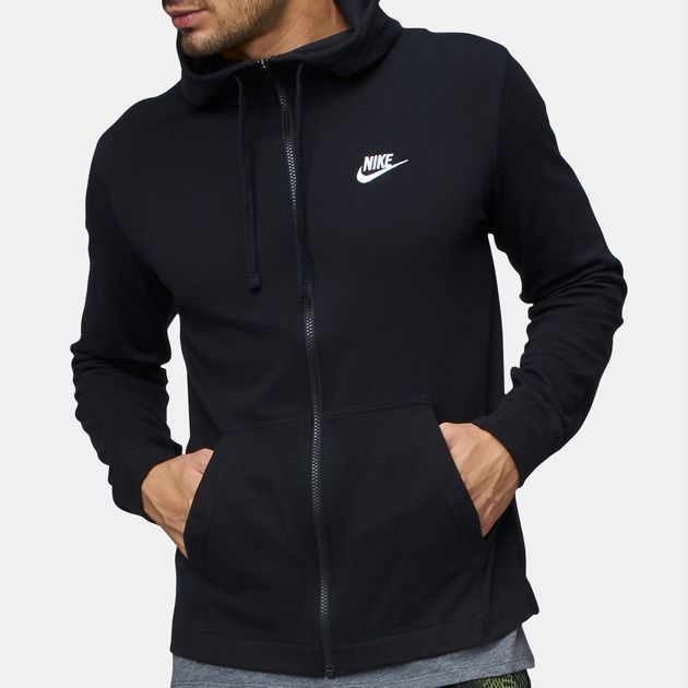 ba8c94c7e Shop Black Nike Sportswear Full Zip Jersey Club Hoodie for Mens by ...