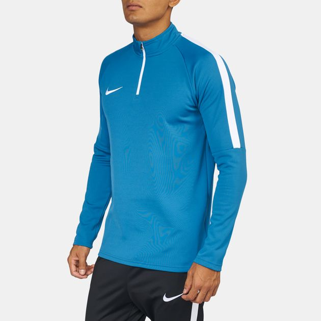 19216b91fea78 White Shop Blue Nike Dry Academy ¼ Zip Drill Long Sleeve T-Shirt for ...