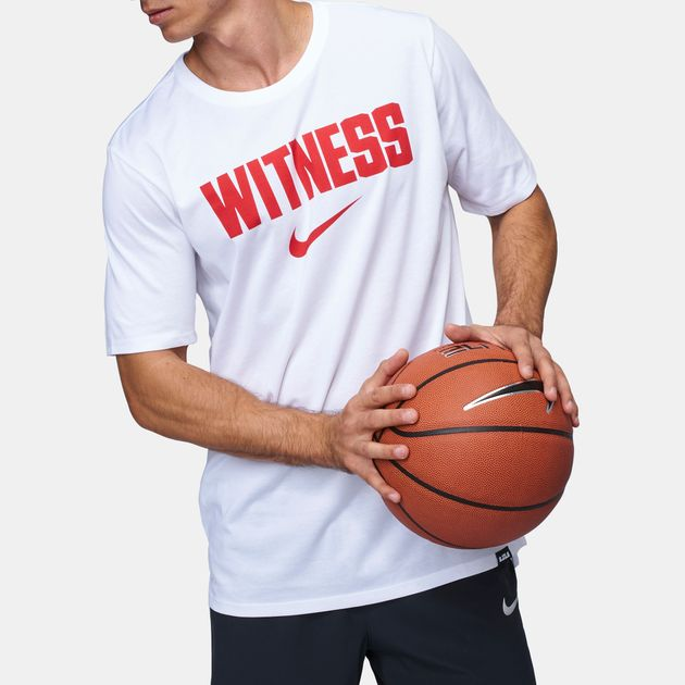 347172db Shop White Nike LeBron James Dry Witness T-Shirt for Mens by Nike | SSS