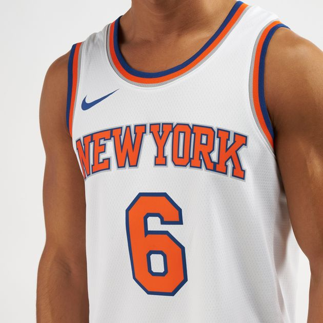 premium selection 5f2d0 e251c Nike NBA New York Knicks Kristaps Porzingis Swingman Home Jersey