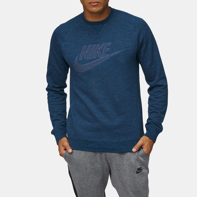 get cheap edc27 12ed1 Nike Sportswear Legacy Crew FT GX Long Sleeve T-Shirt, 894642