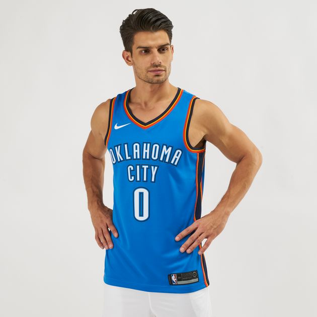 8d8df8b4074 Nike NBA Oklahoma City Thunder Russell Westbrook Icon Edition Swingman  Jersey