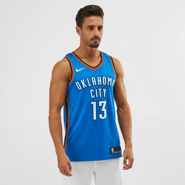 befc45c2e0d3 Nike NBA Oklahoma City Paul George Icon Edition Swingman Jersey ...