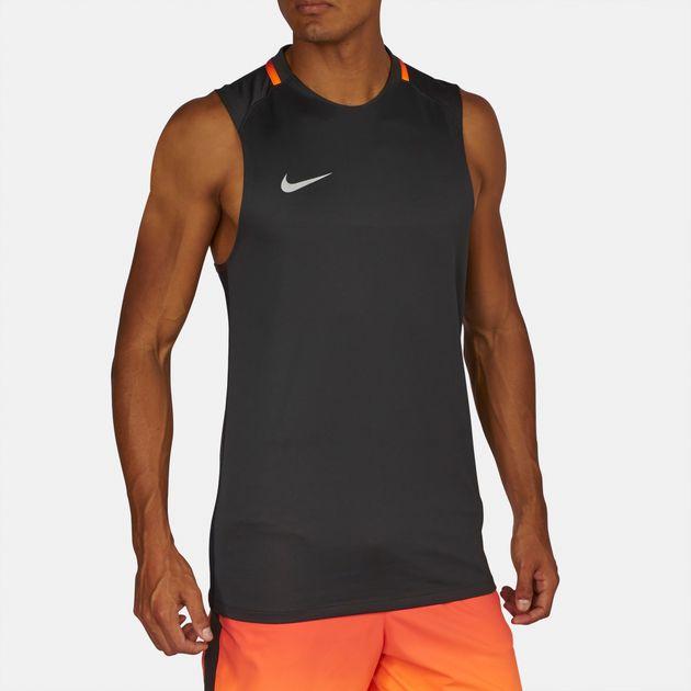 dd89c9caa70af Shop Grey Nike Breathe CR7 Squad Tank Top for Mens by Nike