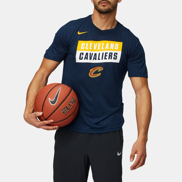 7088a512 Shop Blue Nike NBA Cleveland Cavaliers Dry Basketball T-Shirt for ...