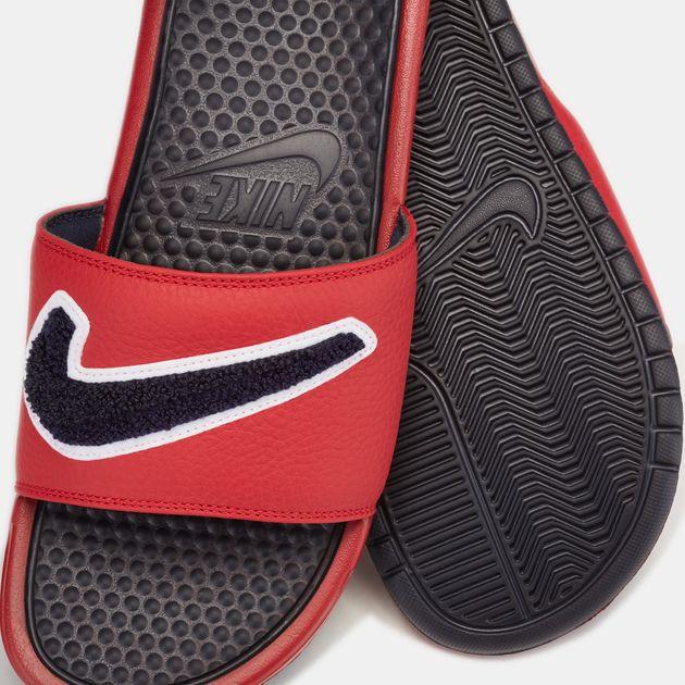 2da3d56cf Shop Red Nike Benassi Just Do It Chenille Slides