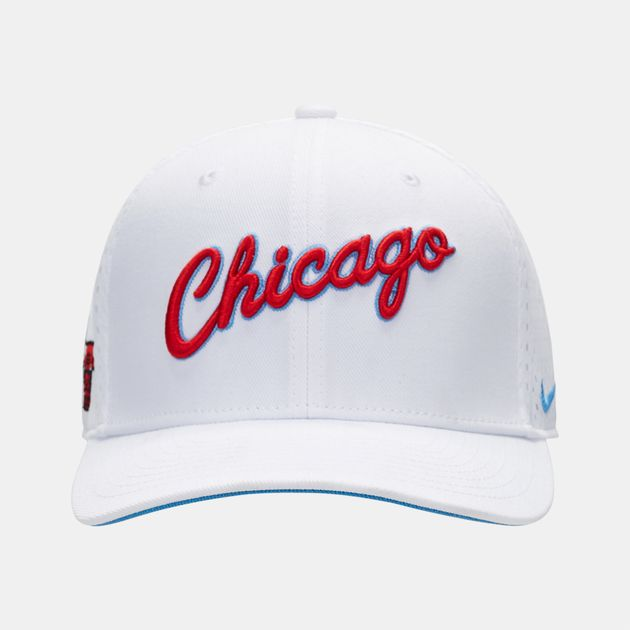 Shop White Nike NBA Chicago Bulls City Edition Classic99 Cap for ... 6c7ee3a9052