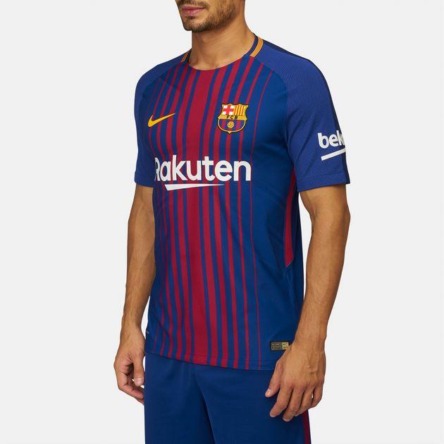 buy popular 23704 e8ab3 Shop Blue Nike Barcelona Vapor Match Home Jersey - 2017/18 ...