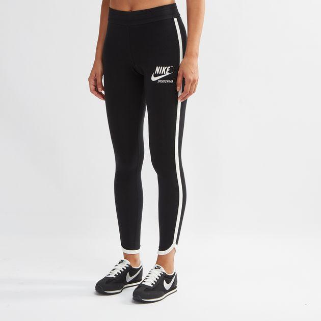 4ebe7fe7b9668 Shop Black Nike Sportswear Archive Leggings for Womens by Nike | SSS