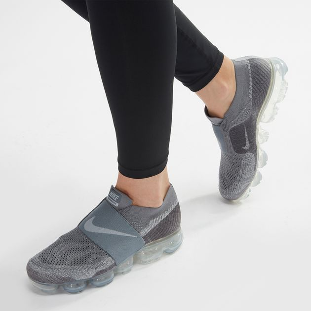 7ad09c8295815 Shop Grey Nike Air Vapormax Flyknit MOC Running Shoe for Womens by ...