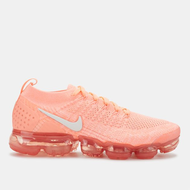 promo code 2f5b5 77338 Shop Orange Nike Air Vapormax Flyknit 2 Shoe for Womens by ...