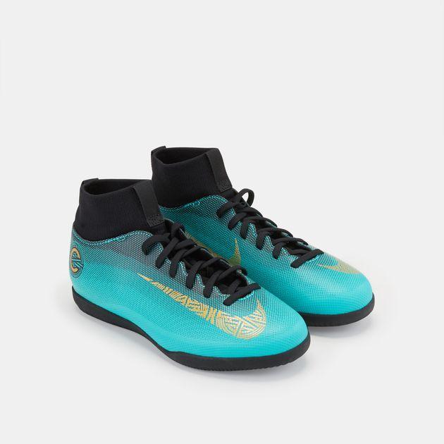 26f2a3993028 Nike Kids' MercurialX Superfly 6 Club CR7 Indoor/Court Football Shoe (Older  Kids