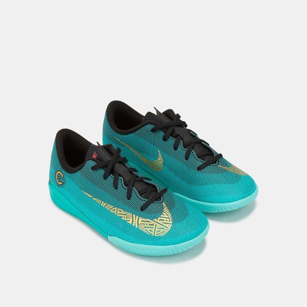 new style cc6f4 11be1 Shop Green Nike Kids' CR7 MercurialX Vapor XII Academy ...