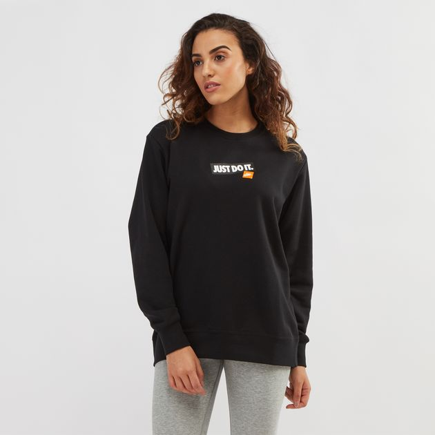 Black Nike Sportswear Just Do It Sweatshirt  8a961df53