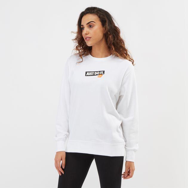 just do it sweatshirt womens