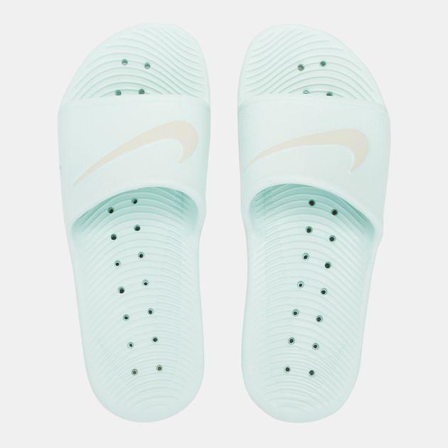 56f1e66a7d856 Shop Blue Nike Kawa Shower Slides for Womens by Nike