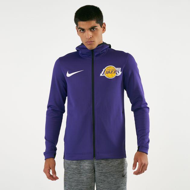 6fde55dde Nike Men s NBA Los Angeles Lakers Therma Flex Showtime Hoodie ...