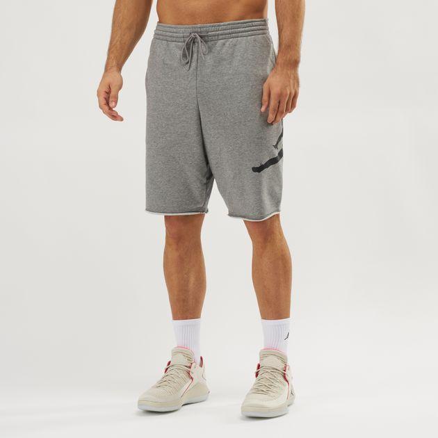 031844f943d Shop Grey Jordan Jumpman Air Fleece Shorts | Shorts | Clothing ...
