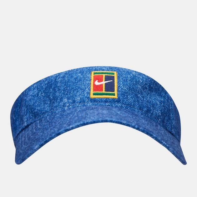 b7f2b7973c022 Nike Court Aerobill H86 Denim Visor | Headbands | Accessories ...