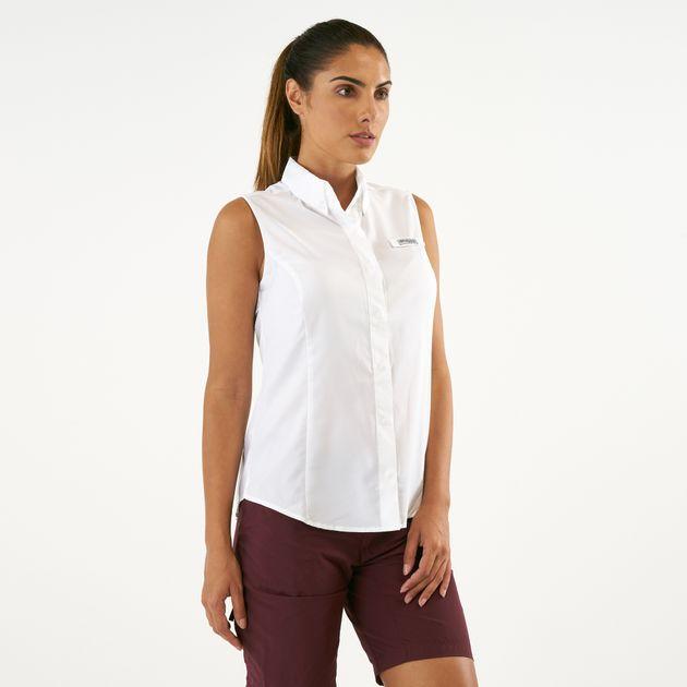 6f400a50ae09fe Columbia Women s PFG Tamiami Sleeveless Shirt