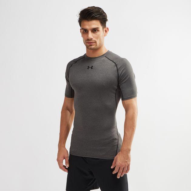 c0651b75 Shop Grey Under Armour™ HeatGear® Armour Compression T-Shirt for ...